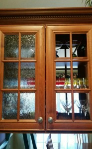 Kitchen cabinet glass